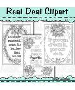 Inspirational Quotes Coloring Pages - $1.25