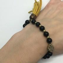 Express Beaded Tassel Stretch Bracelet - $14.85