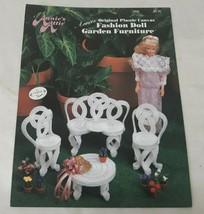 Annie's Attic 245K Fashion Doll Garden Furniture Plastic Canvas Leaflet - $7.09