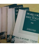 4 Copies of Singable Songs for Male Voices 2nd Group Richard Grant 1943 - $1.98