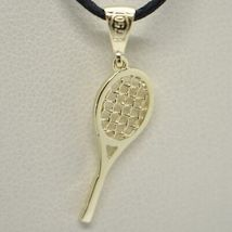 18K YELLOW GOLD TENNIS RACKET PENDANT, CHARM, 20 mm, 0.8 inches, MADE IN ITALY image 4