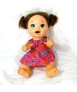 Baby Alive Doll Super Snacks Snackin Sara Brunette 14 inch English Spanish - $19.79