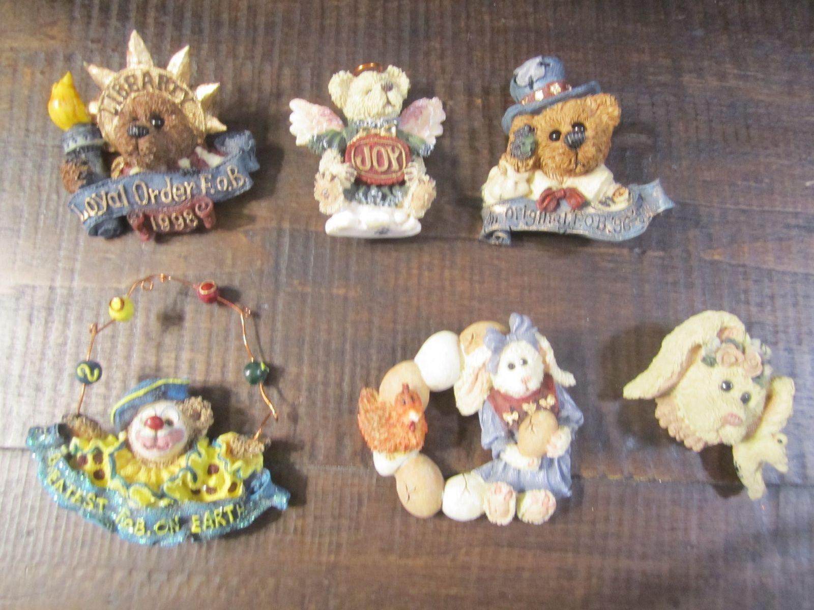 Set of six Boyds Bears Wearable Pins Resin and 50 similar items