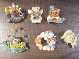 Set of six Boyds Bears Wearable Pins Resin Christmas Easter 4th of July & more! - $19.99