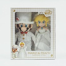 Super Mario Plush Doll Mario & Peach (Wedding Style) Height 42cm Nintend... - $139.00