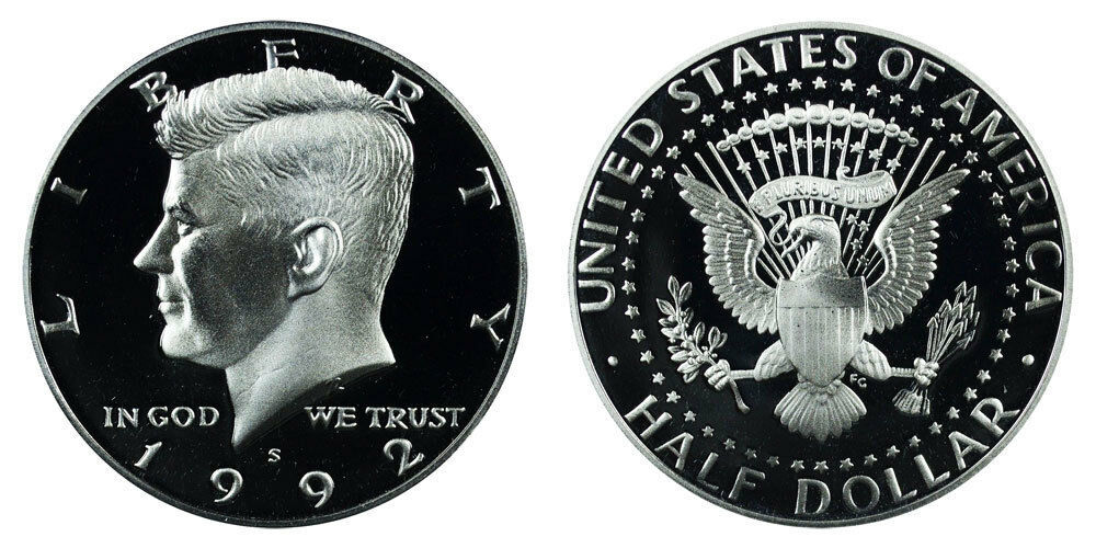 1992 S Proof Kennedy Half Dollar CP2031
