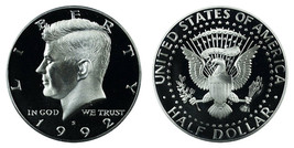 1992 S Proof Kennedy Half Dollar CP2031 - $4.75