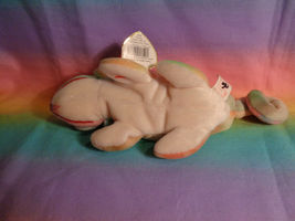Vintage 1997 Ty Beanie Baby Rainbow Chameleon Bean Bag Plush w/ Tags - as is image 5