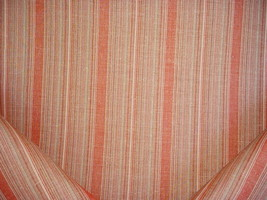 2Y MANUEL CANOVAS CANYON RED TEXTURED CYCLADES STRIPE UPHOLSTERY FABRIC - $38.02