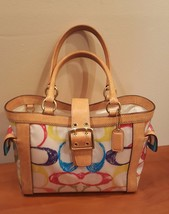 COACH Pvc Multicolor Signature Scribble VACHETT... - $84.15