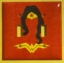 Wonder Woman comics Logo Light Switch Duplex Outlet Wall Cover Plate Home decor image 2