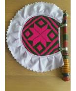 Authentic Punjabi Traditional Pakhi handmade carved wooden paintwork wov... - $102.02