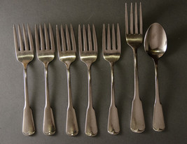 Oneida Plymouth Rock 5 salad forks  1 teaspoon  stainless - $9.88