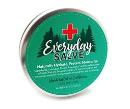Everyday Salve | Menthol Scented All Natural Hand Salves | Organic Daily Moistur - $17.70