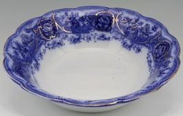 Wedgwood & Co Semi Porcelain Flow Blue Atalanta Master Berry Bowl