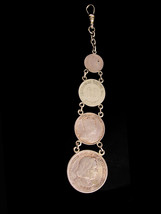 Antique Coin Fob - Pocketwatch Fob Chain - 1892 coin - Columbian Half Do... - $295.00