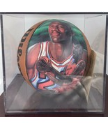 MICHAEL JORDAN CHICAGO BULLS SPORTACULAR ART PAINTED WILSON BASKETBALL 1... - $186.07