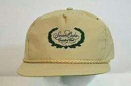 Seven Oaks Country Club Golf Baseball Cap Tan w/Green OSFM - $15.99