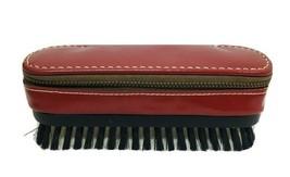 Vintage Red Cowhide Brush w/ Hidden Razor Toothbrush T80 - $29.21