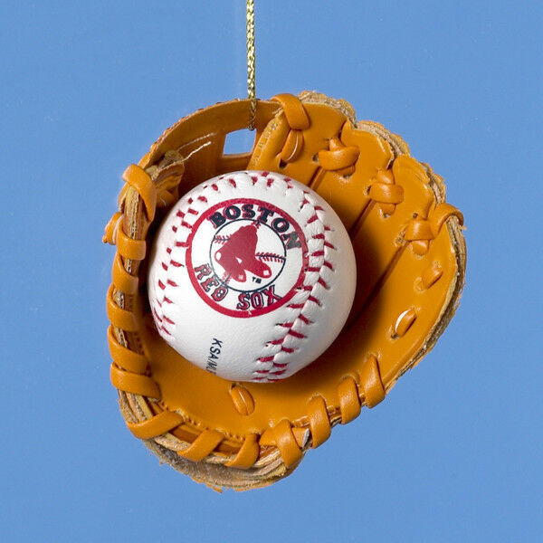 Boston Christmas Tree Delivery: KURT S. ADLER MLB™ BOSTON RED SOX BASEBALL IN GLOVE