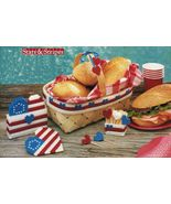 Plastic Canvas Patriotic Picnic Set Beach Bag Key Purse Bathroom Set Patterns - $8.99