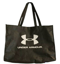 UNDER ARMOUR Black XL Tote Foldable Shopping Bag Reusable Recycle Gift - $12.16