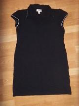 W6648 womens TALBOTS black sleeveless rayon spandex stretch casual fall dress S - $15.45
