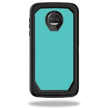 Skin Compatible With Box Defender Motorola Moto Z2 Force - Solid Turquoise   Pro - $12.99