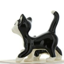Hagen Renaker Cat Black and White Tuxedo Papa and Kitten Ceramic Figurines image 5