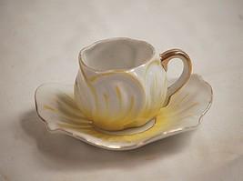 Old Vintage Kipp Ceramics Occupied Japan Tea Cup & Saucer Set Yellow w G... - $19.79