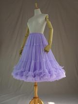 Burgundy MIDI Tulle Skirt Women High Waist Tulle Midi Skirt Ballet Dance Skirt image 14