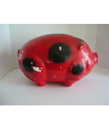 Large Red Chalkware  Piggy Bank - $40.00