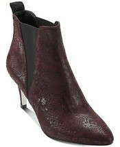 DKNY Women's Alani Suede Closed Toe Ankle Fashion Boots, Snake Dp Garnet, 5.5 - $69.29