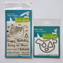 Hang In There Stamp & Die Set. Sloth.  Lawn Fawn. CLEARANCE