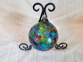 """Felicity Arts Happy Glass Ball, Original Tag, 4 1/2"""" WATER GARDEN Color - $36.72"""