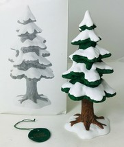 "Dept 56 Small Porcelain Pine Christmas Tree Heritage Village 5219-1 Tag & Box 7"" - $19.34"