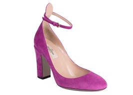 Valentino Violet Purple Suede Ankle Strap Pumps Size IT40/US10~Retail $795 - $565.25