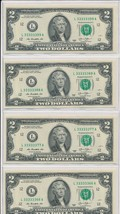 2013 $2 FRN-SIX OF A KIND SERIAL #333333XX WITH PAIR @END FANCY BINARY C... - $149.95