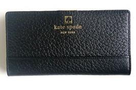GORGEOUS, NWT $198 KATE SPADE BLACK PEBBLED LEATHER WALLET  - $109.95