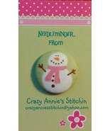 Snowman Pink Scarf Needleminder fabric cross st... - $7.00