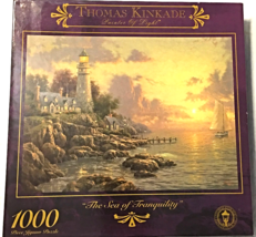 "1000 Piece Puzzle ""The Sea of Tranquility"" Thomas Kinkade [Brand New] - $38.75"