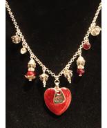 Pendant Necklace - LOVE ~ Glitter Resin Heart Pendant w/Swarovski Charms... - $24.99