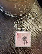 Dandelion Square Pendant- Pink - $13.95