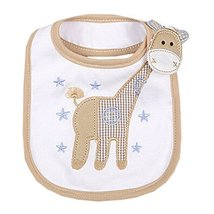 Lovely Giraffe Animal Cotton/PVC Adjustable Waterproof Baby Bib Pocket Bib 612""