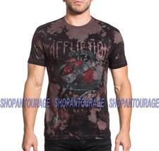 AFFLICTION Venomous Ways A19009 New Men`s Charcoal T-shirt - $59.94