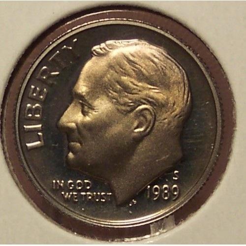 1989-S DCAM Proof Roosevelt Dime #0532 - $3.19