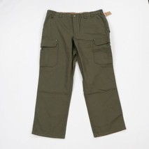 New Duluth Trading Co Mens 44x34 Fire Hose Cargo Work Pants Olive Green ... - $59.35