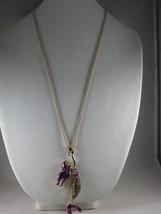 NEW Betsey Johnson Purple Rhinestone  Mermaid Pendant on Long Chain - $24.50
