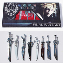 8pcs/lot Anime Final Fantasy Sword Metal Weapons Toys  - $19.99