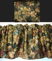 Window Valance w New Ralph Lauren Fabric EDGEFIELD FLORAL GREEN BROWN TAN - $37.45